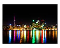 Toronto Skyline Night by thelearningcurve-da