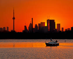 Sunset Sail Ashbridges Bay Toronto Canada by thelearningcurve-da