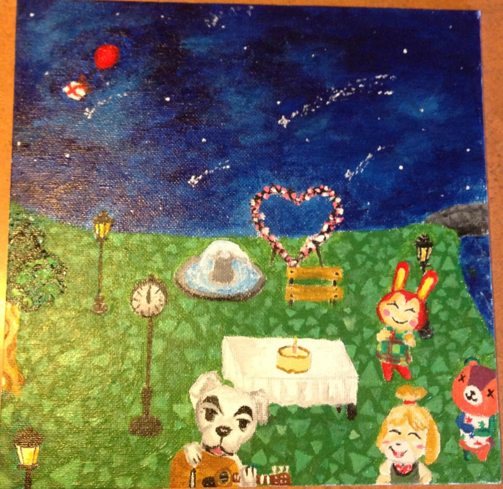 Animal crossing new leaf birthday by daydreamer012 on for Animal crossing mural