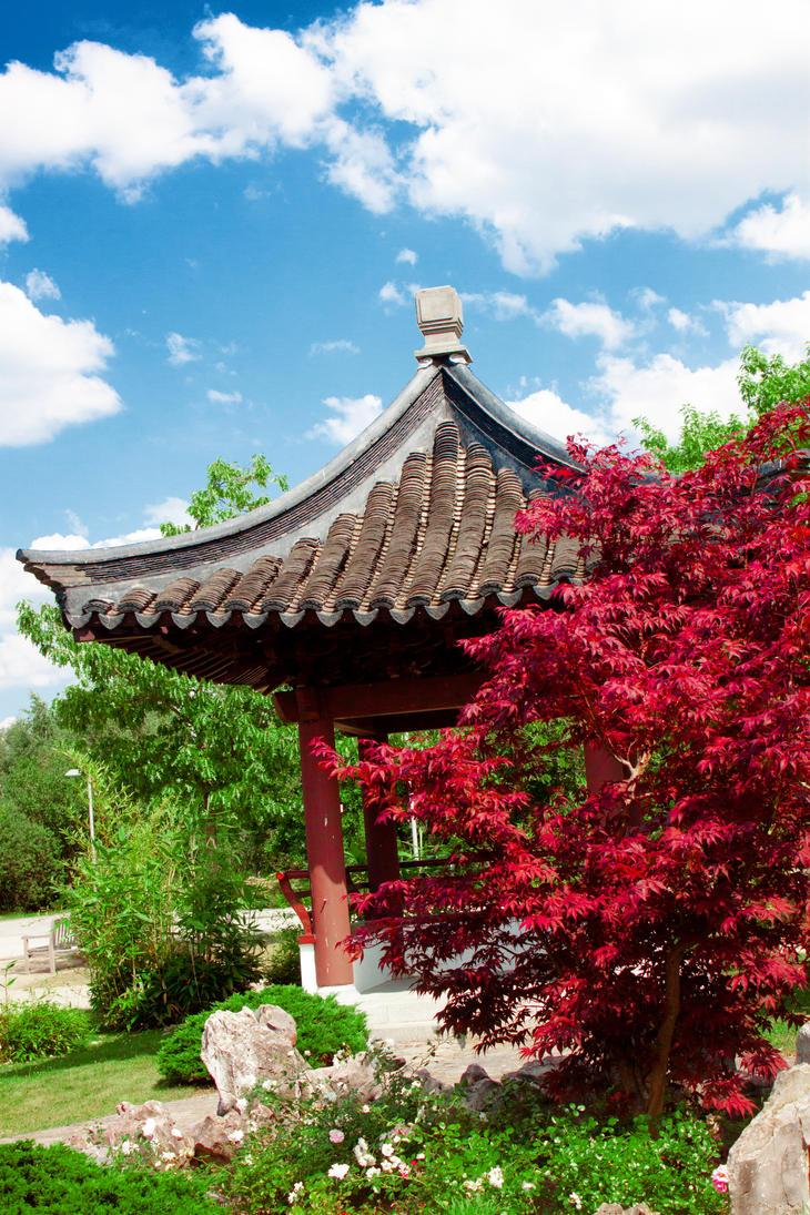 Chinese garden by kumikolein