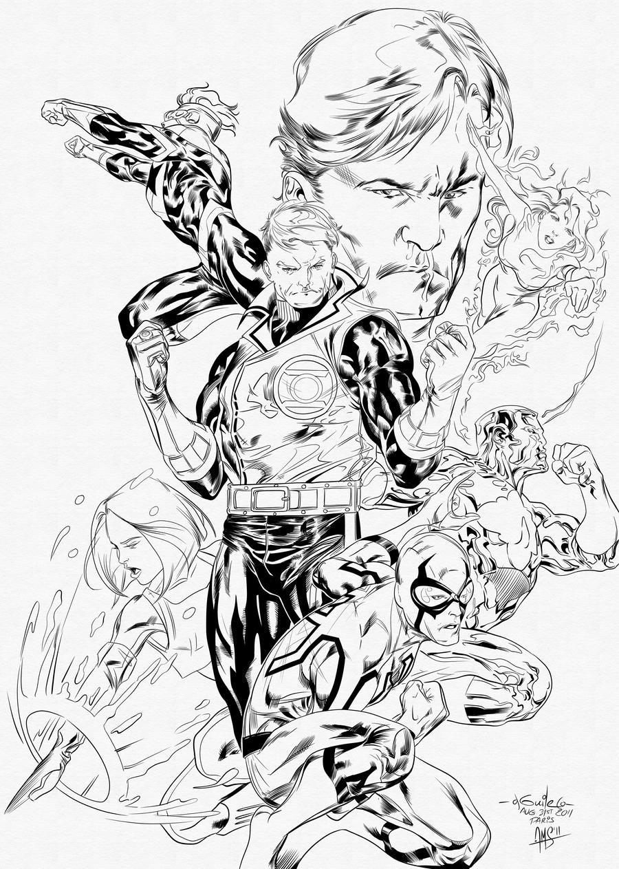 Coloring pages justice league - Justice League Coloring Pages Ebay New 52 Justice League More Wip By Pinterestcom