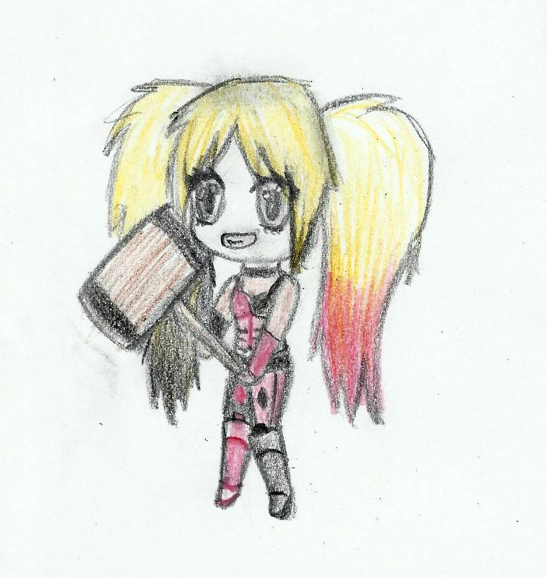 Harley Quinn Chibi By QueenJellybeany On DeviantArt