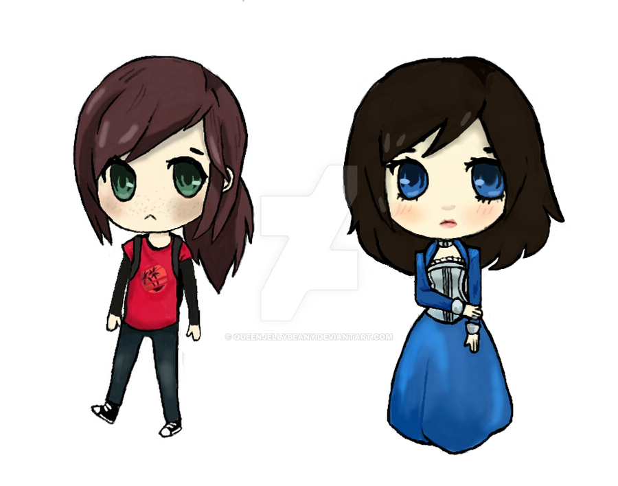 Ellie and Elizabeth by QueenJellybeany