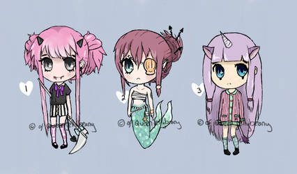 FANTASY ADOPTABLES (ONE LEFT) by QueenJellybeany