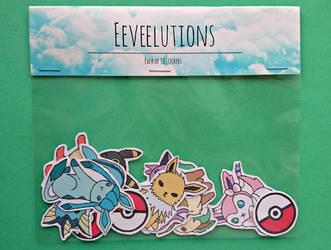Eevee stickers by QueenJellybeany