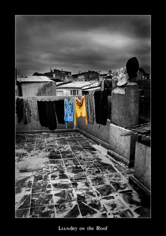 Laundry on the Roof by garageolympo