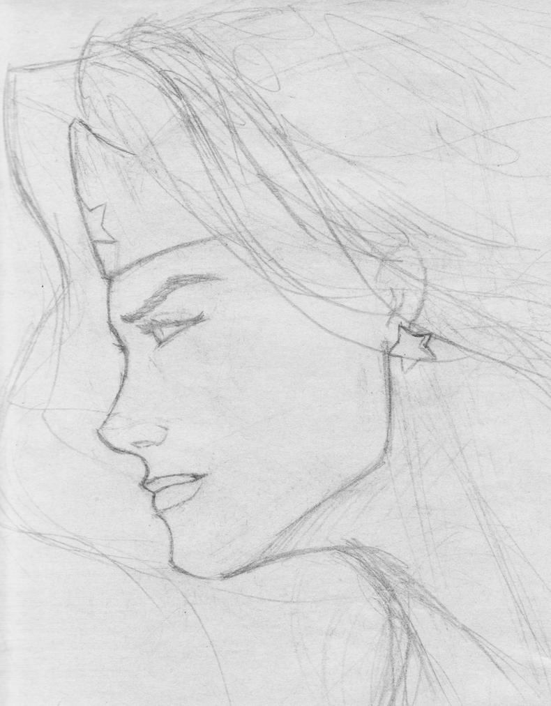 Wonder Woman Day Sketch 1 by MiddleLightRiver