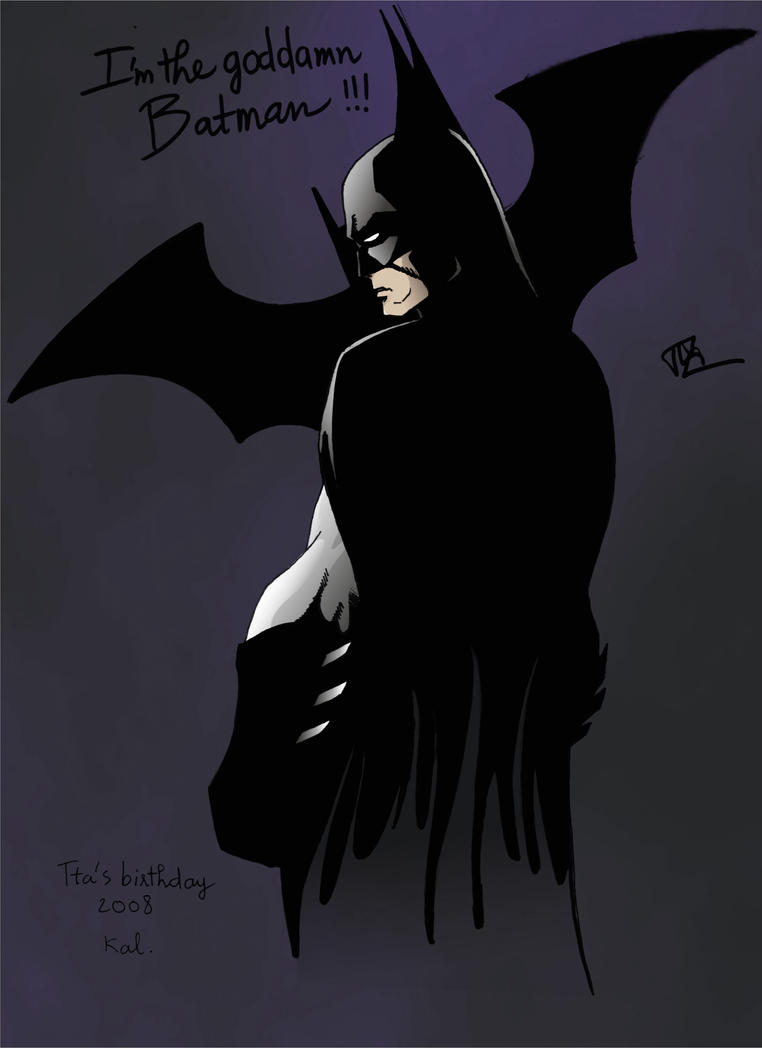 The goddamn Batman by MiddleLightRiver