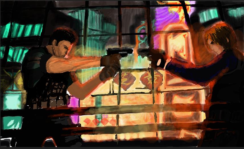 Leon And Chris Resident Evil 6 By Heirenmozhushi On Deviantart
