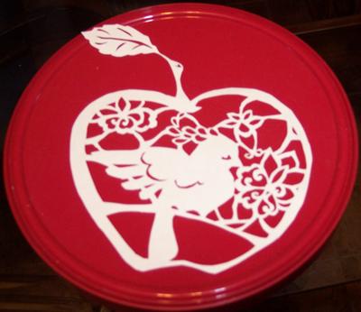 Apple Bird Paper Craft by Illeander