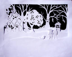 Paper Tales: Hansel and Gretel by Illeander