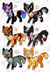 spooky doggies set price [6/6 open] by HaseSchwanz