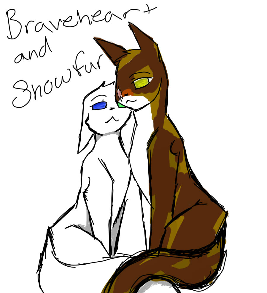The Blazing Star Warriors: Braveheart And Snowfur By Angelofdeath234 On DeviantArt