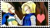 F2U Vegeta x 18 Stamp by x-Riivenge