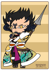 Au Ra Chibi Lancer Commission by x-Riivenge