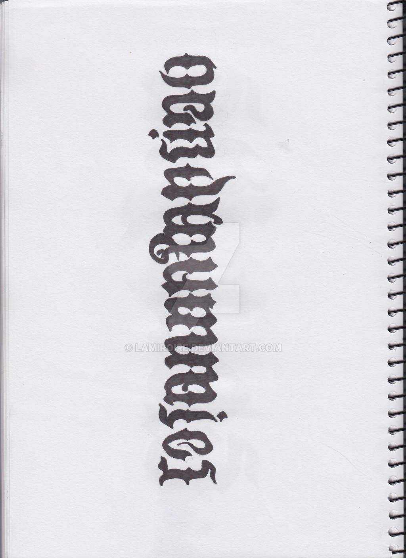 Rosanna Pansino Ambigram Sketch WIP