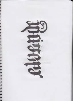 Britteny/Elvende Ambigram WIP