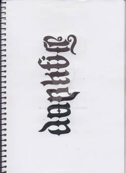 Jordan/Darkfire Ambigram WIP