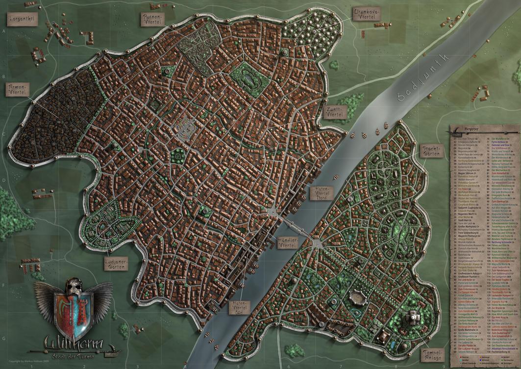 wilthorm a fantasy city by khorghil