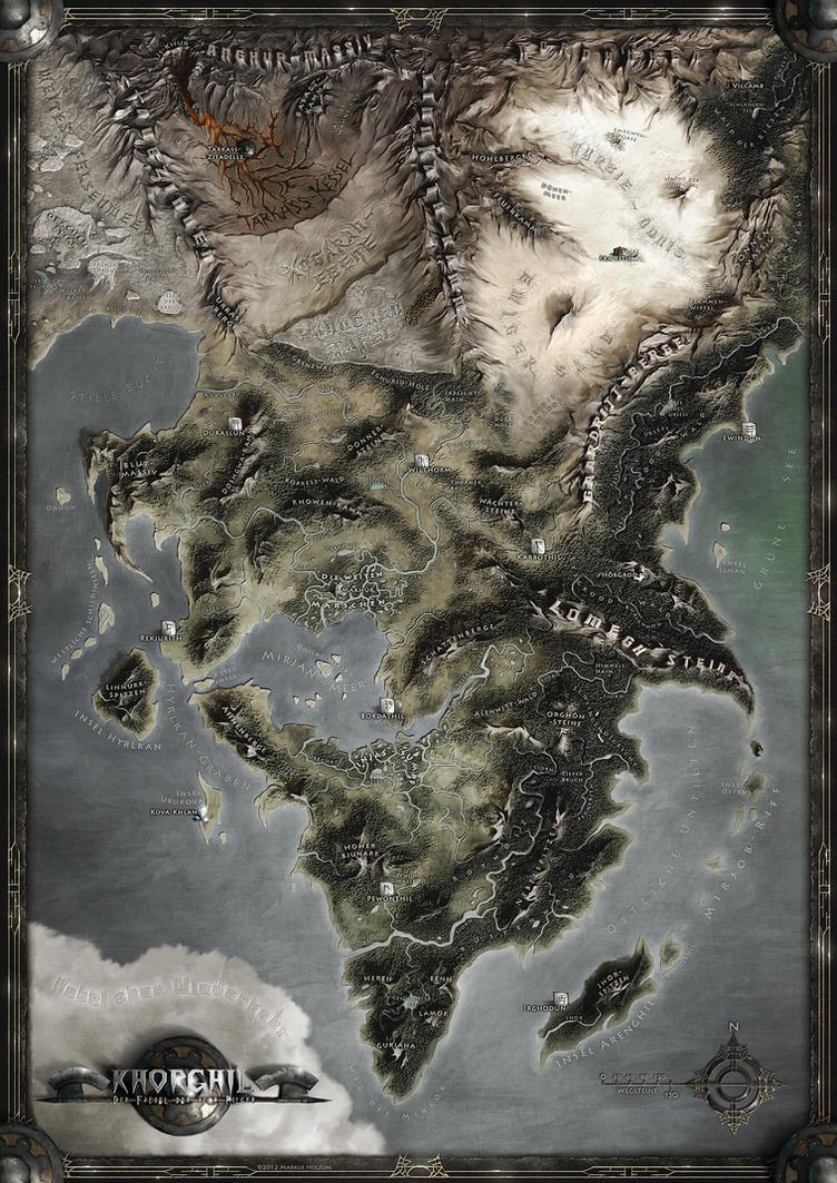 KHORGHIL FANTASY MAP by Khorghil