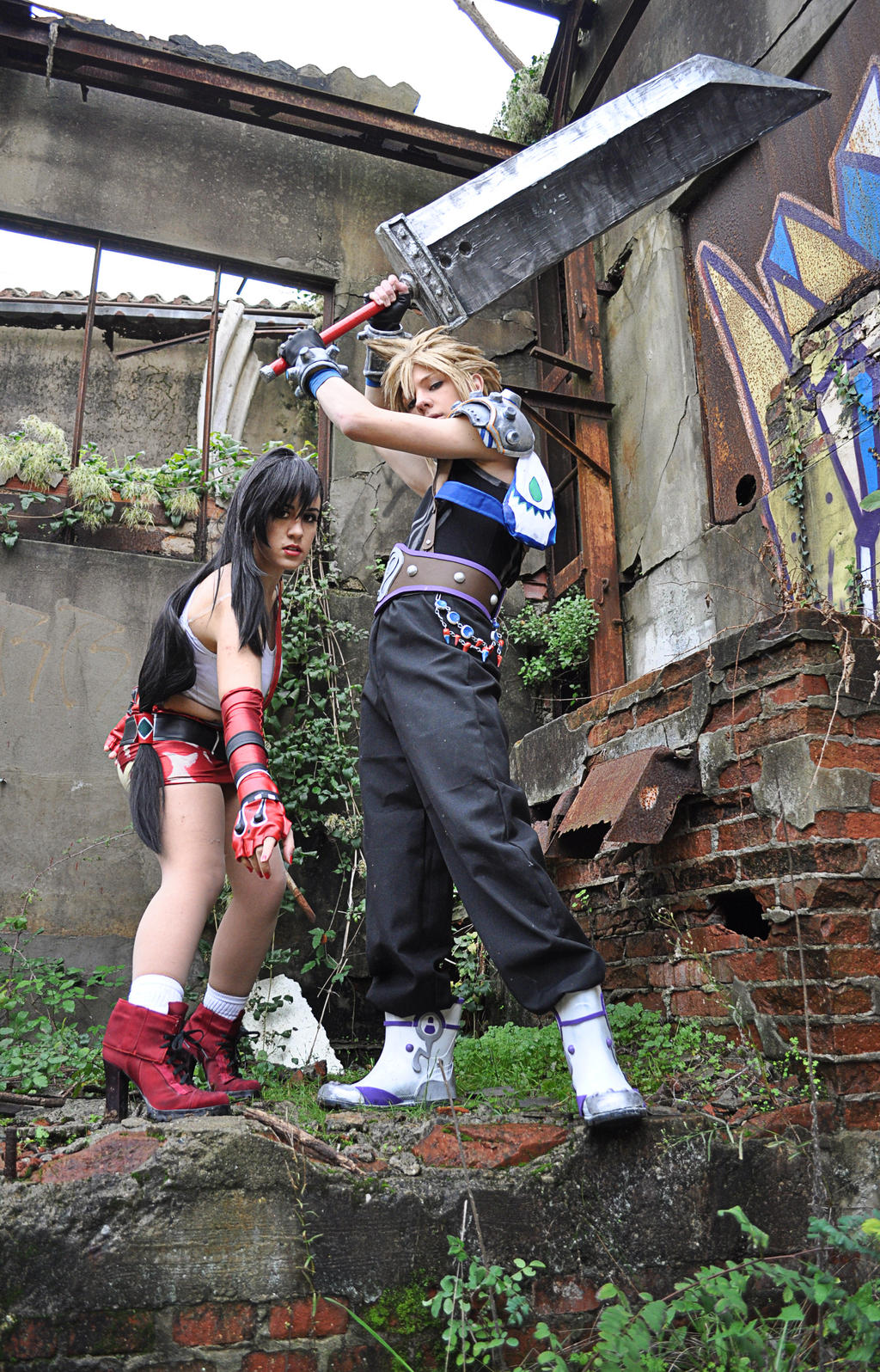 Cloud and Tifa Dissidia 012 by The-Final-Distance