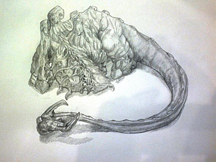 DSG 1640: Creature • LARGE HIPPO-SIZED BEAST HAS BUG-LIKE MOUTHPARTS