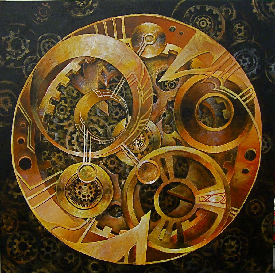 Steampunk Gear Drawing Steampunk Clock Gear by