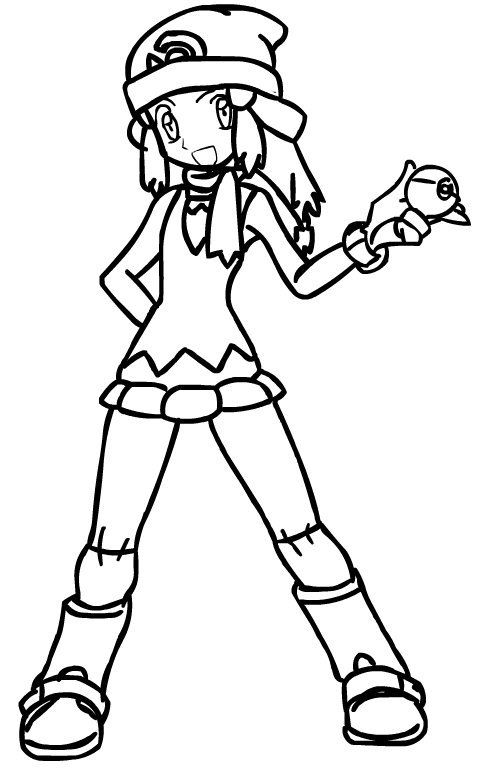 pokemon trainer coloring pages - photo#3