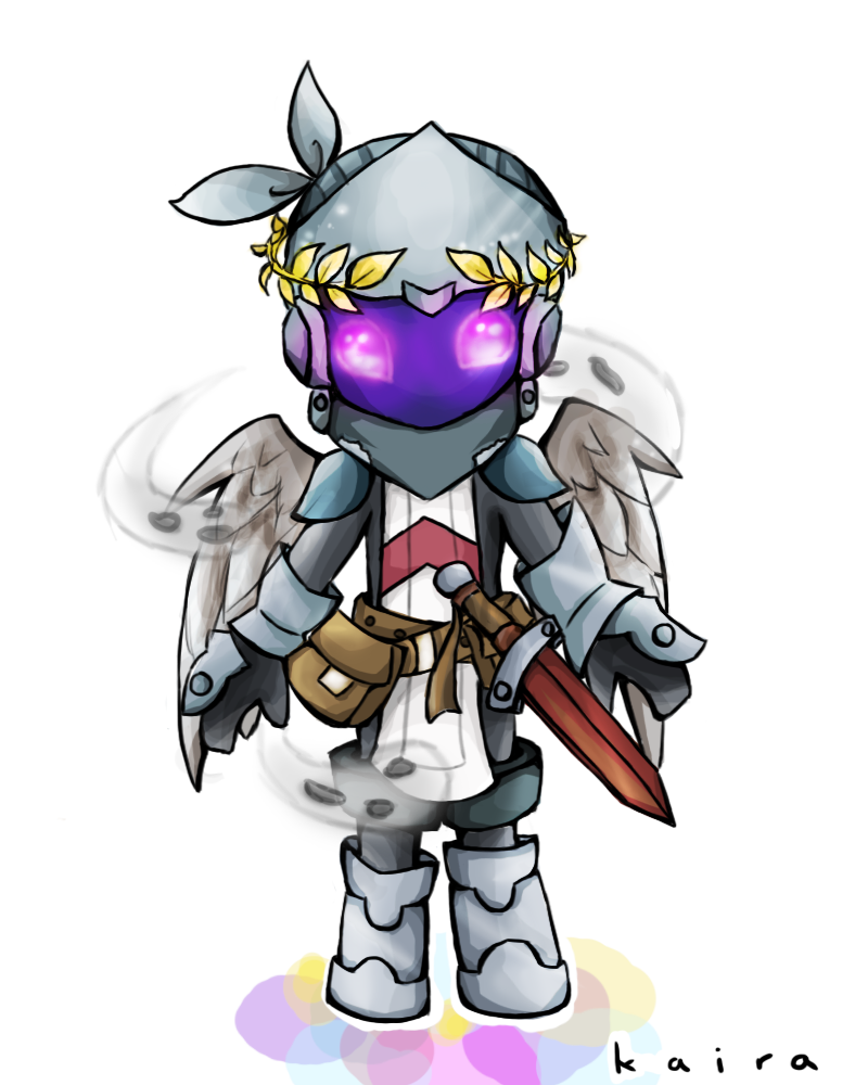 how to draw a chibi knight