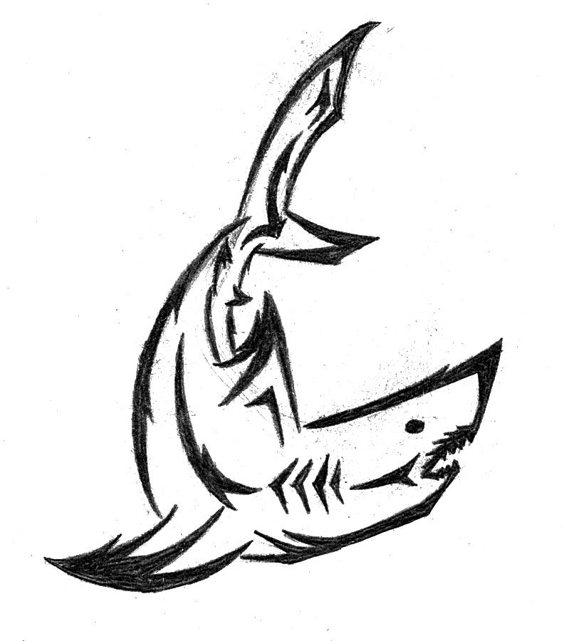 Tribal Shark by Araishin