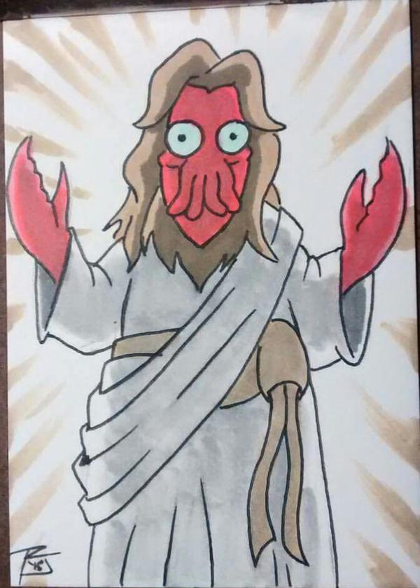 zoidberg jesus by russelljackson on deviantart
