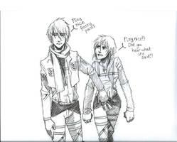 Mikasa and Eren genderbend by Siobhan-racoon
