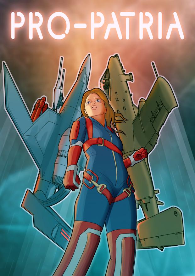 Pro-Patria Example Comic Book Cover Art