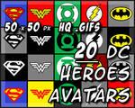 20 DC Superhero Avatars
