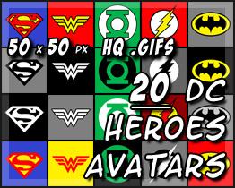 20 DC Superhero Avatars by decibelfx