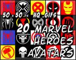 20 Marvel Superhero Avatars