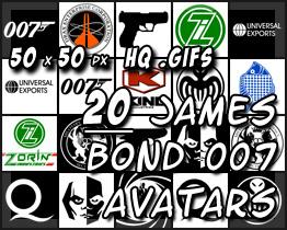 20 James Bond 007 Avatars by decibelfx