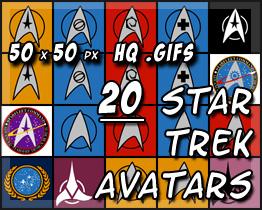 20 Star Trek Avatars by decibelfx