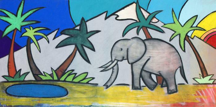 Elephant morning