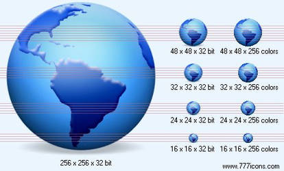 Globe with shadow Icon by multimedia-vista-ico