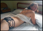 44 year old Shelly - black and silver panties 13