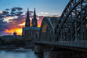 The Cologne Cathedral in the burning light by LinsenSchuss