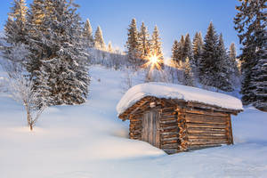 The small mountain hut by LinsenSchuss