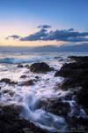 Sunrise on the sea shore
