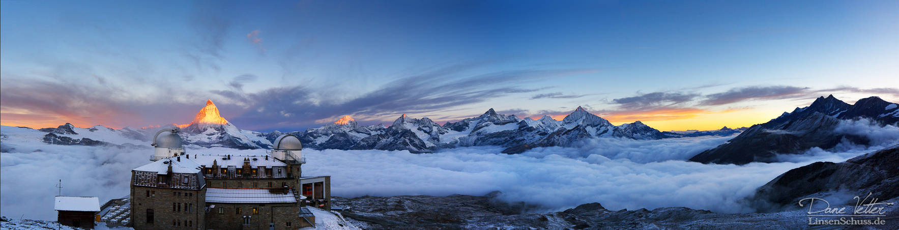 The view of the Swiss Alps