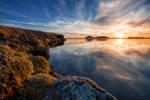 Sunset at the Myvatn Lake
