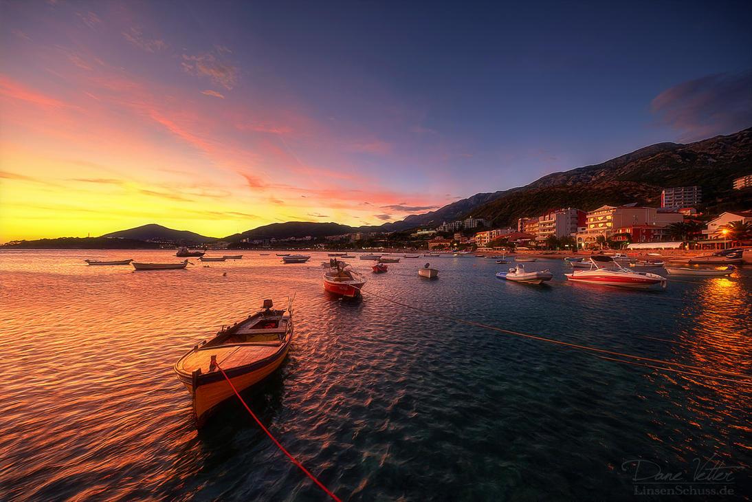 Sunset at Montenegro by LinsenSchuss