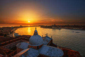 Sunset from San Giorgio Maggiore by LinsenSchuss