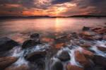 A cloudy sunrise on Sardinia by LinsenSchuss