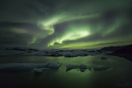 Northern Lights above the Glacier Lagoon